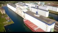 MV CSL St-Laurent loading grain in Thunder Bay, Ontario, and discharging it in Montreal, Quebec.