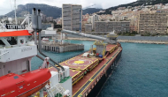 Aggregate Loading and Discharge Operation - Toulon to Monaco - MV Tertnes & MV CSL Rhine