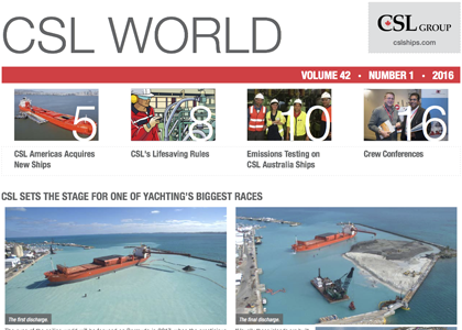 March 2016 issue of CSL World is now available